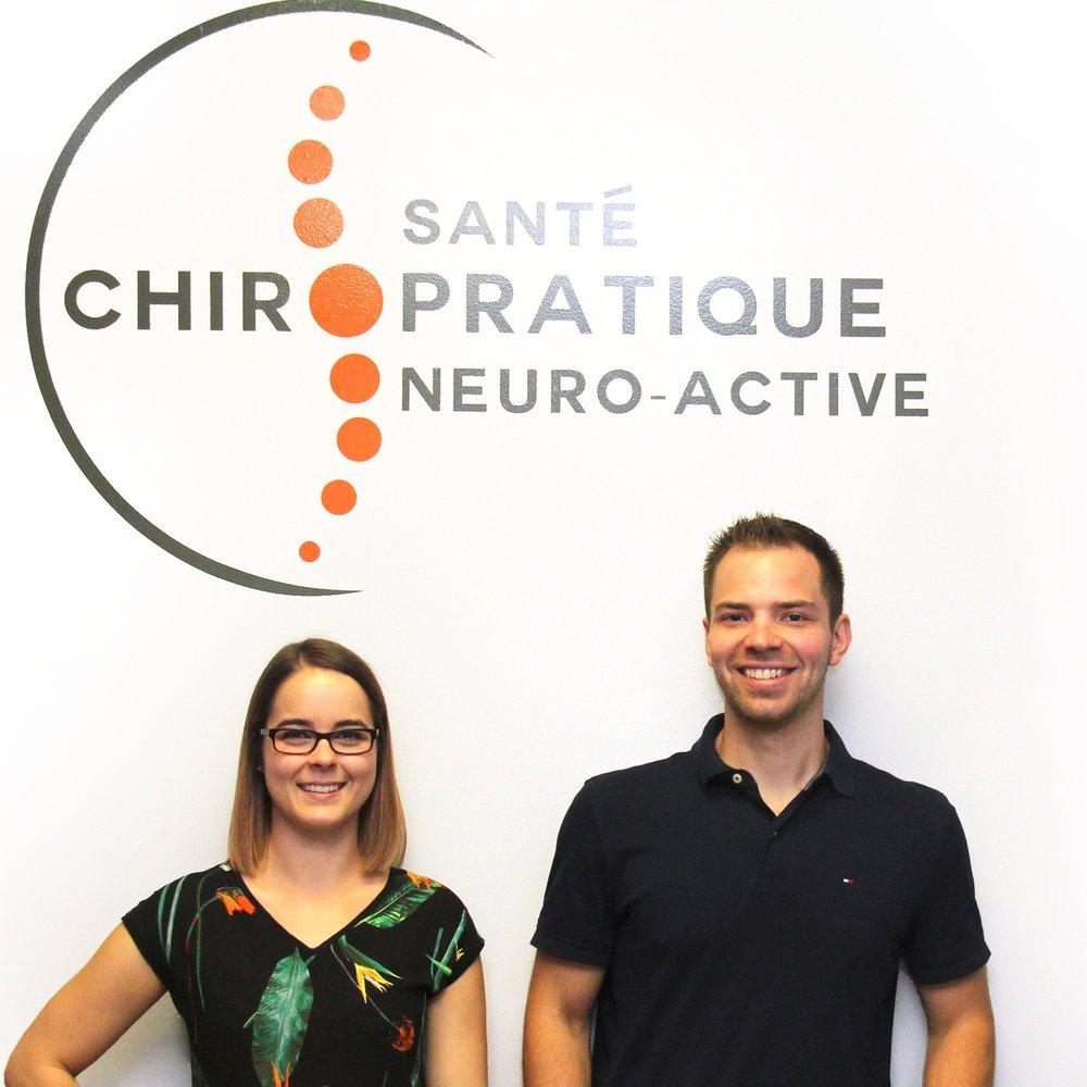 Dre Marie-Eve Bérubé et Dr Matthieu Hamel, chiropraticiens