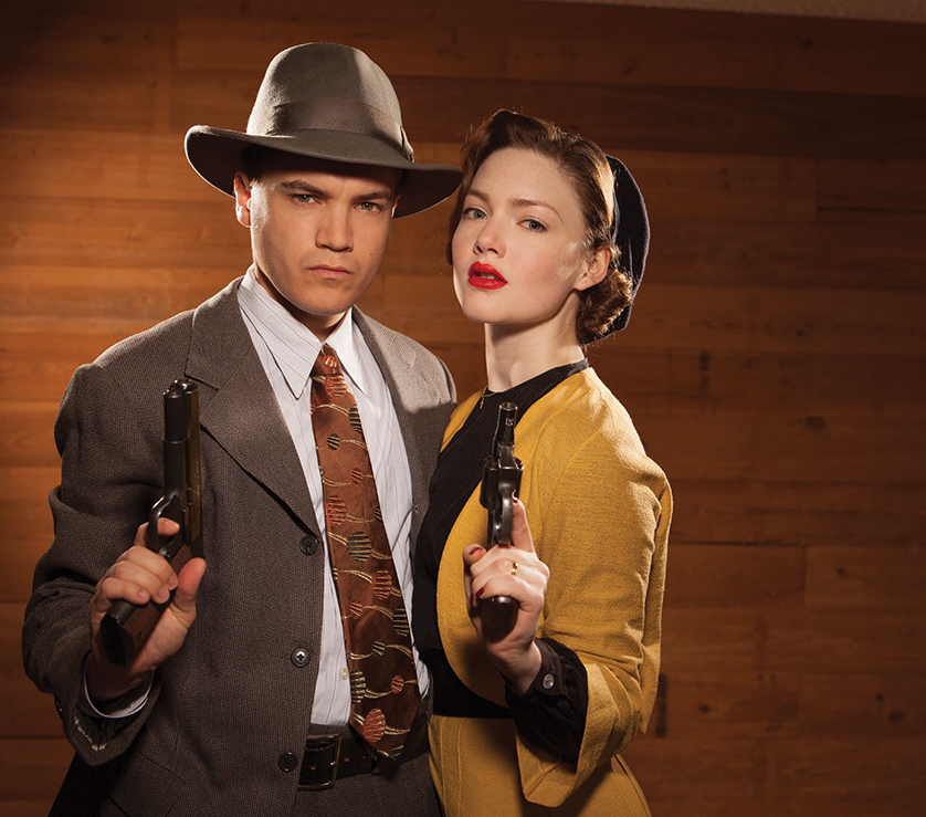Emile Hirsch and Holiday Grainger in Lifetime's Bonnie and Clyde. Photo courtesy of Joseph Viles