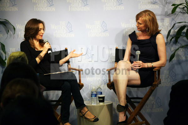 "Photo courtesy of Tommaso Boddi / PR Photos Gina Piccalo, Melissa Rosenberg – ""The Twilight Saga: Eclipse"" Screenwriter Melissa Rosenberg Interviewed by LA Times Writer Gina Piccalo in Los Angeles on July 13, 2010 – WGF/WGA Headquarters – Los Angeles, CA, USA"