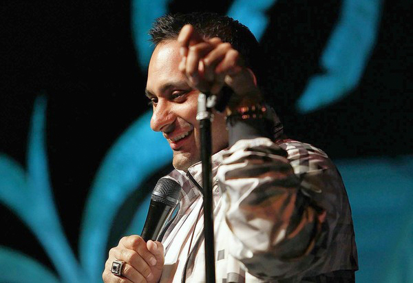 Comedian Russell Peters at the John Lovitz Comedy Club at Universal City Walk. (Photo courtesy of Robert Gauthier, Los Angeles Times / March 9, 2010)