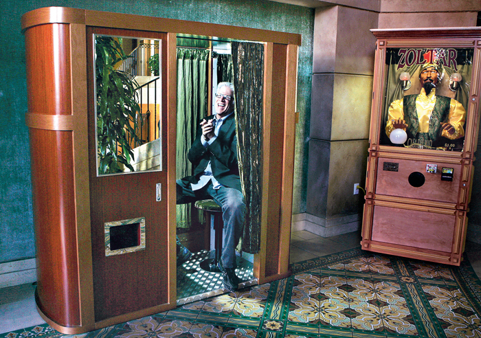 Photograph of Ted Danson in the Hotel Casa del Mar lobby photo booth in Santa Monica by Ken Hively