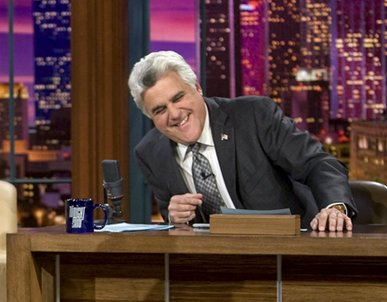 Jay Leno. Photo courtesy of Paul Drinkwater, NBC via Getty Images.