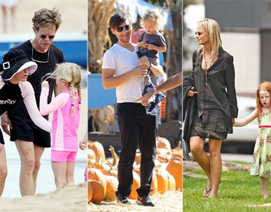 Tobey Maguire and his family. Photo courtesy of Newscom