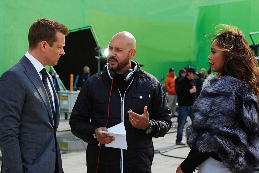 Gabriel Macht, Anton Cropper and Gina Torres of Suits.