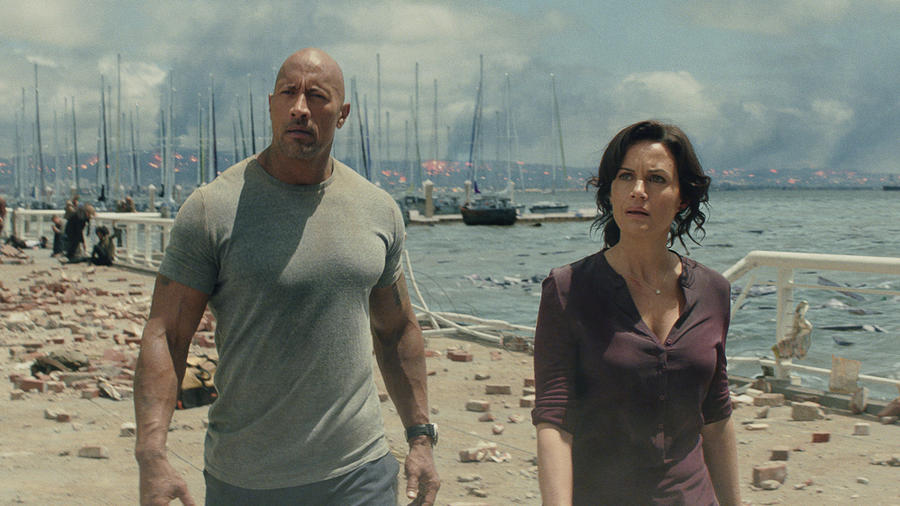"Dwayne Johnson and Carla Gugino in ""San Andreas."" (Photo Credit: Warner Bros.)"