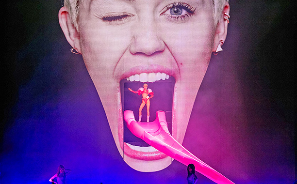 Miley Cyrus takes the stage