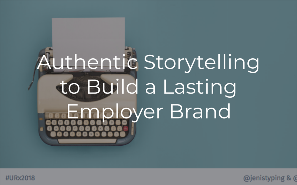 The future of recruiting is emotionally engaging-content through storytelling! It's what's going to help you stand out from the noise and talk to the *right* people to join your efforts in building something great.