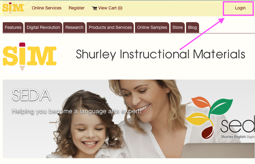 - Step 1:Go to www.shurley.com.Select the login button.