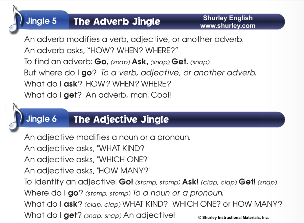 adverb or adjective shurley english