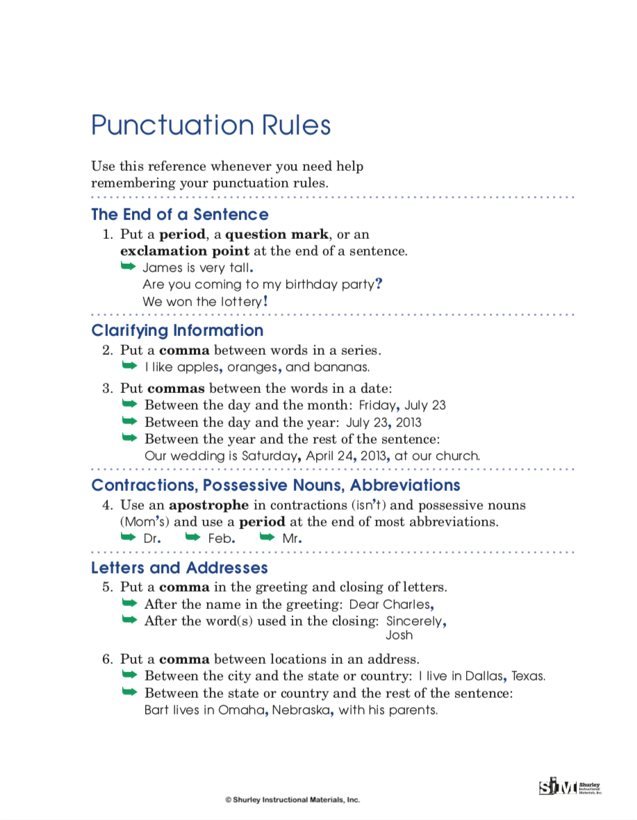 Punctuation Rules from Shurley English.png