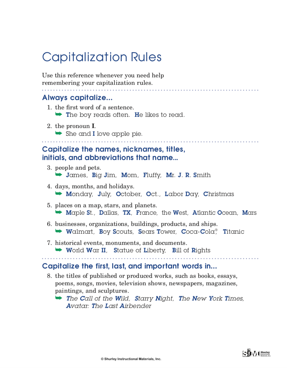 Capitalization Rules from Shurley English.png