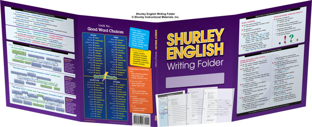 Shurley English Writing Folder:  ©Shurley Instructional Materials, Inc.