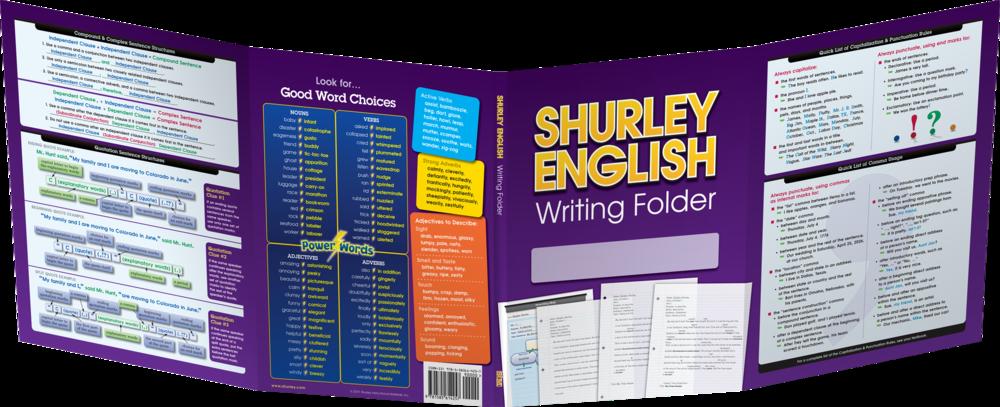 Shurley English Writing Folder:  ©Shurley Instructional Materials, Inc.
