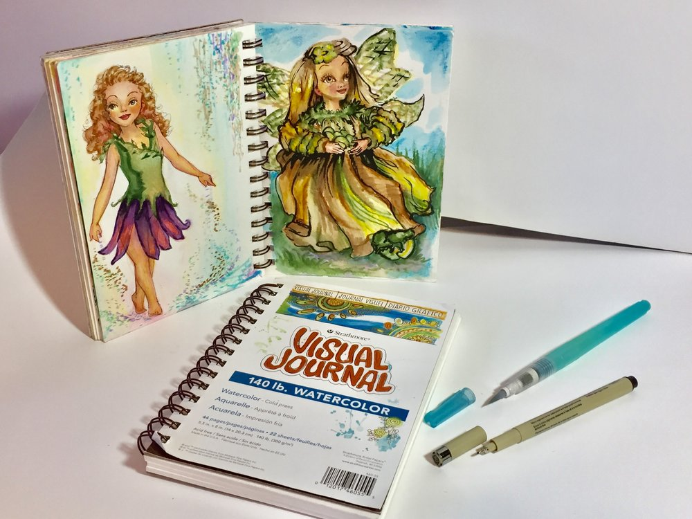 I love my small watercolor sketchbook, waterbrush, and watercolor markers because you can create anywhere! Check out my article on my  top 10 favorite art supplies .