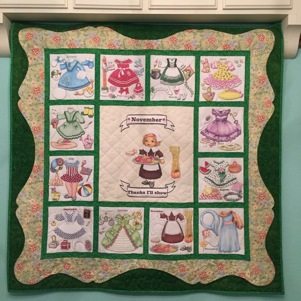 My mom's Gracie Mae Interactive Paper Doll Quilt was a life-long goal that she accomplished.
