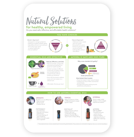 doterra essential oils natural solutions brochure