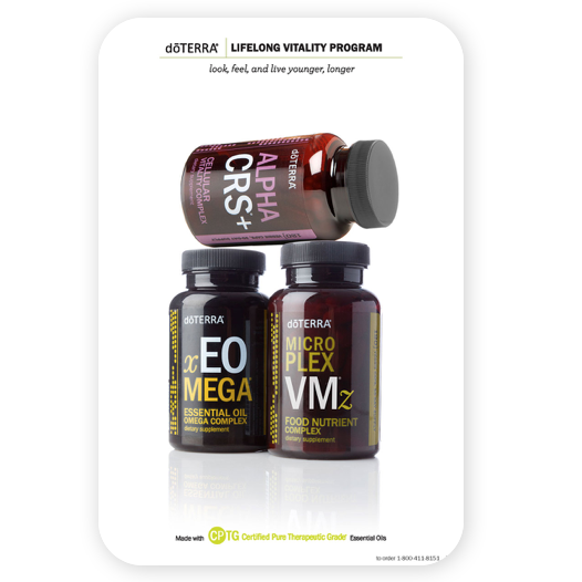 doterra essential oils life long vitality brochure