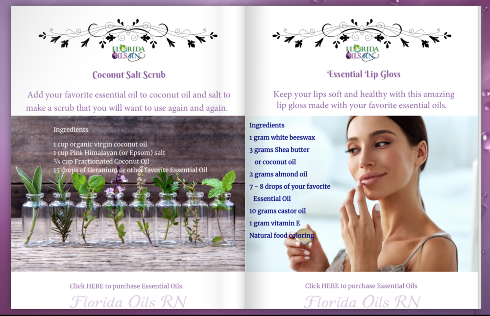Personal Care DYI Essential Oils Recipes eBook - Brought to you by Sheila Tucker