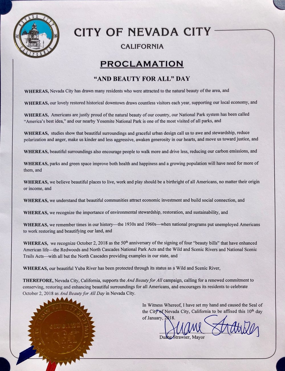 Nevada City official proclamation.jpg