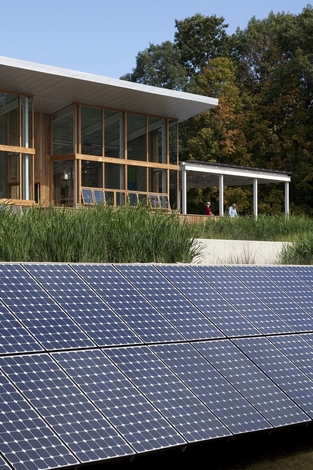 The Omega Institute plant is a net-zero building — which means that over the course of a year, it generates more electricity than it consumes. Photo by Farshid Assassi