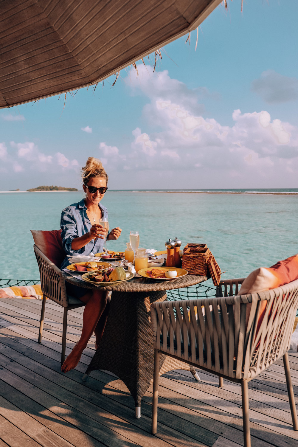 Final breakfast on our deck.. - Literally AMAZING