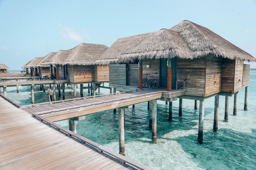 Overwater villa - Each Villa is given bicycles, which is the best mode of transport to get around the island!