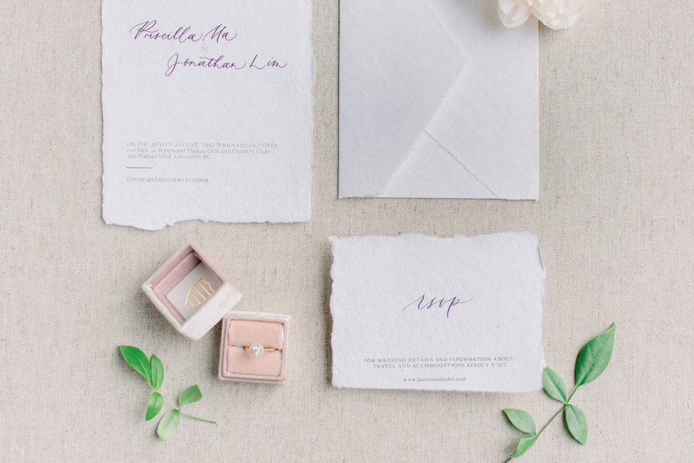 romantic invitation suite