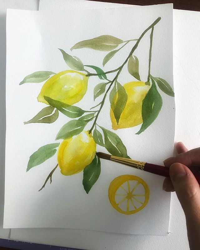 So nice to have a reason to bring out the paintbrushes and do these #watercolor lemons for C&S's Greek destination wedding! They're making this sunny day that much brighter.