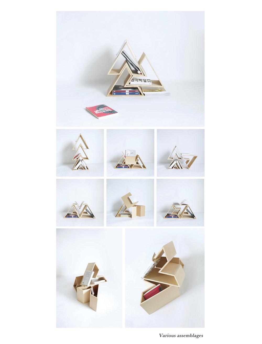 简单的造型让架子更具可玩性,保证实用性的同时也能灵活组合
