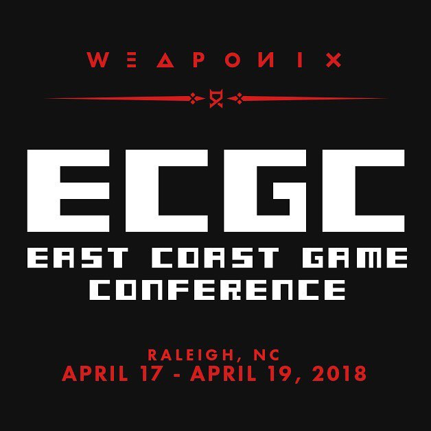 Starting today, I'll be showcasing my artwork at East Coast Game Conference in NC. Be sure to stop by if you're in the area! @ecgconf #ecgc2018