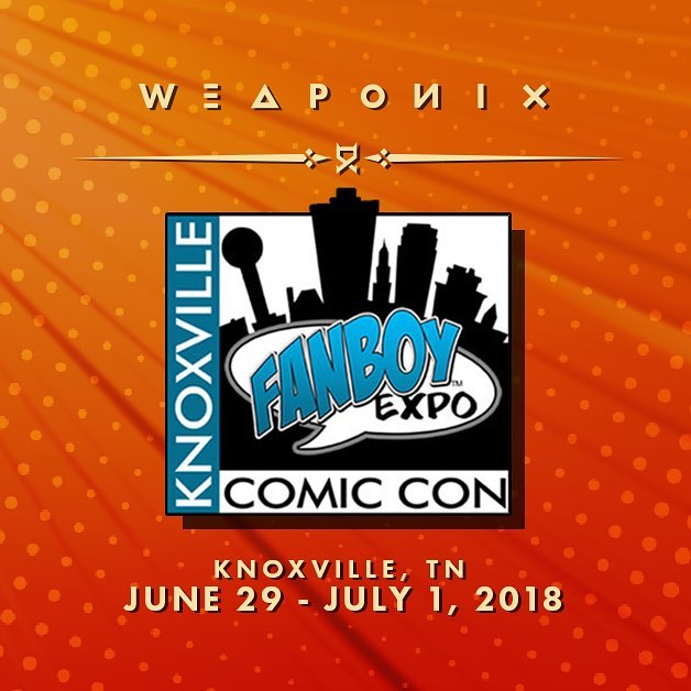 Starting today till the first, I'll have a booth at Knoxville Comic Con! Find out more at https://fanboyexpo.com/  @fanboy_expo