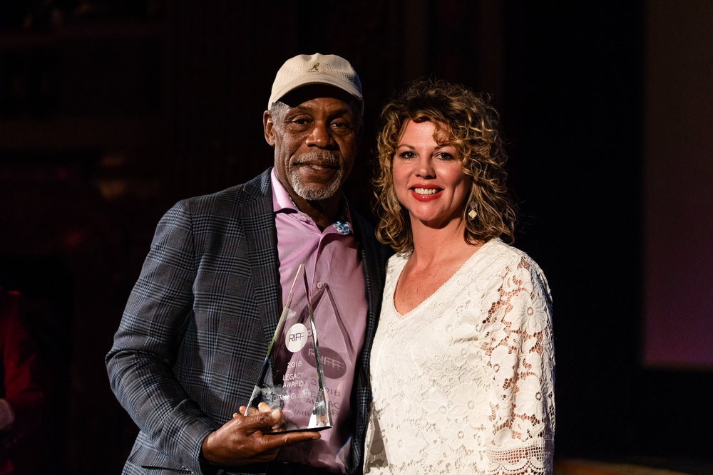 Danny Glover with me and Award.jpg