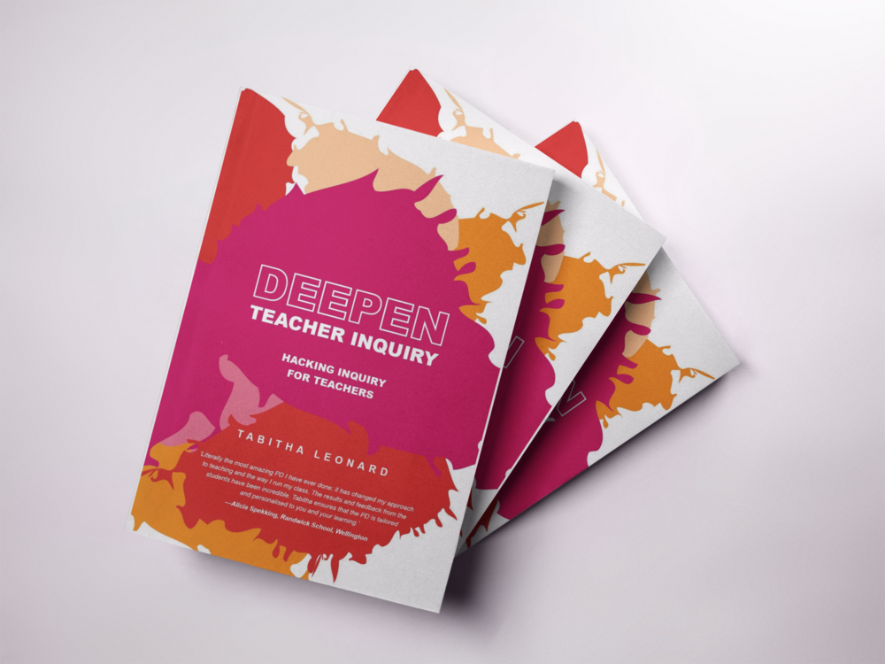 All schools I work with in support of Teacher Inquiry will receive a complimentary copy of my book Deepen Teacher Inquiry - Hacking Inquiry for Teachers.  Deepen Teacher Inquiry was written to support teachers through the design of deep teacher inquiries that encourage innovation and creativity in the approach to deepening student learning and elevate impacts in student outcomes.