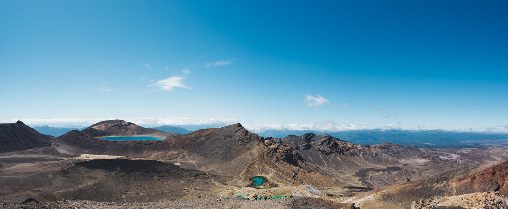 Panorama image of Emerald lakes