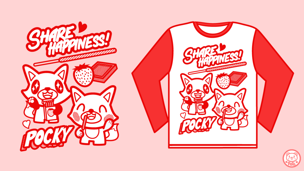 """Pete Ellison x Pocky """"Share Happiness"""" Collaboration Tee 2016"""