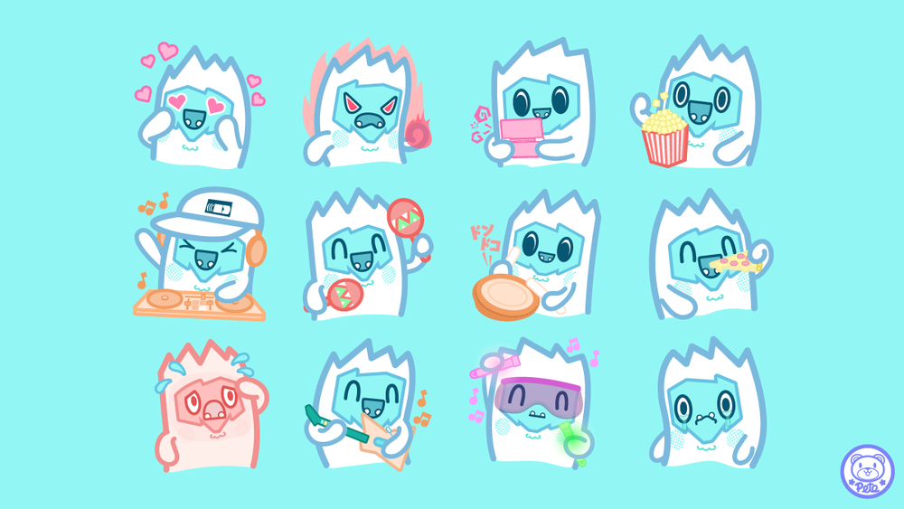 Pete Ellison x The Yetee Illustrated Chat Sticker Pack