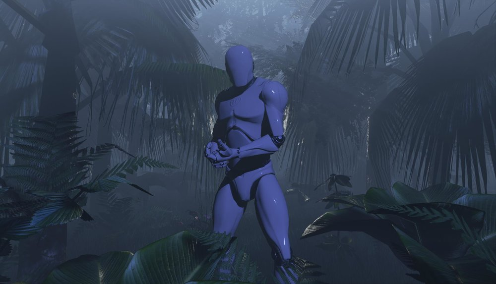 mannequin in a Jungle scene for LimeLight Photo Booth