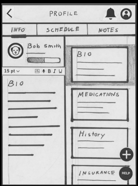 Note Taking + Resident Profile