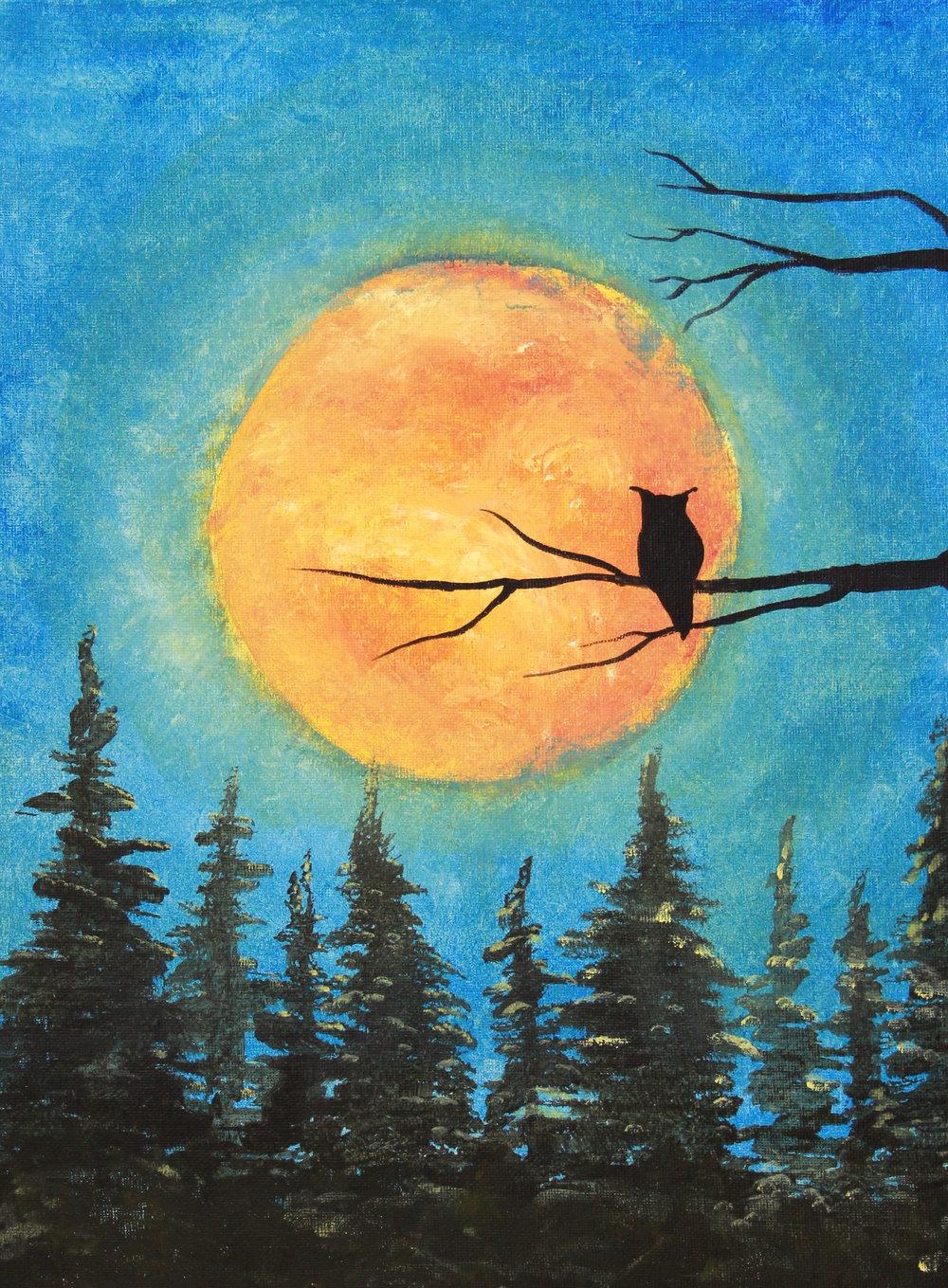 7) Blood Moon Owl