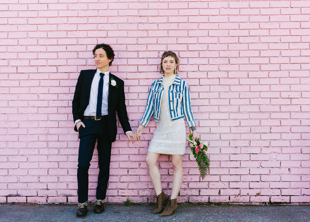 Mark + Sierra - a rock-and-roll portland elopement