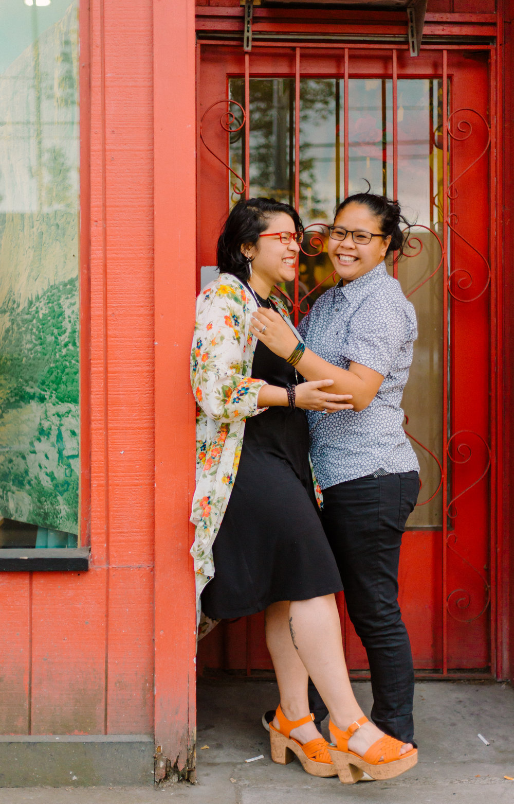 Vanessa + Rachel - sunset in southeast portland