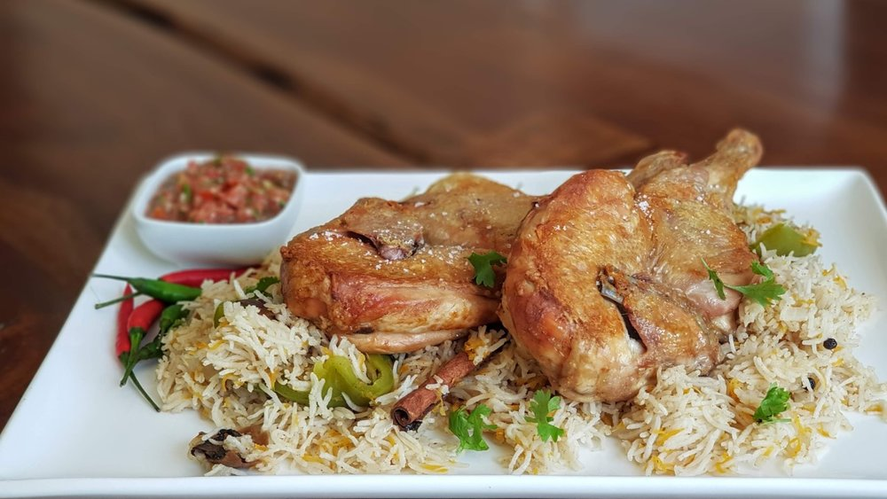 Served with  Aromatic Basmati Rice