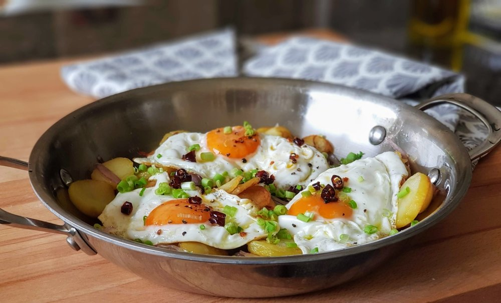 Home Style Potato And Egg Fry