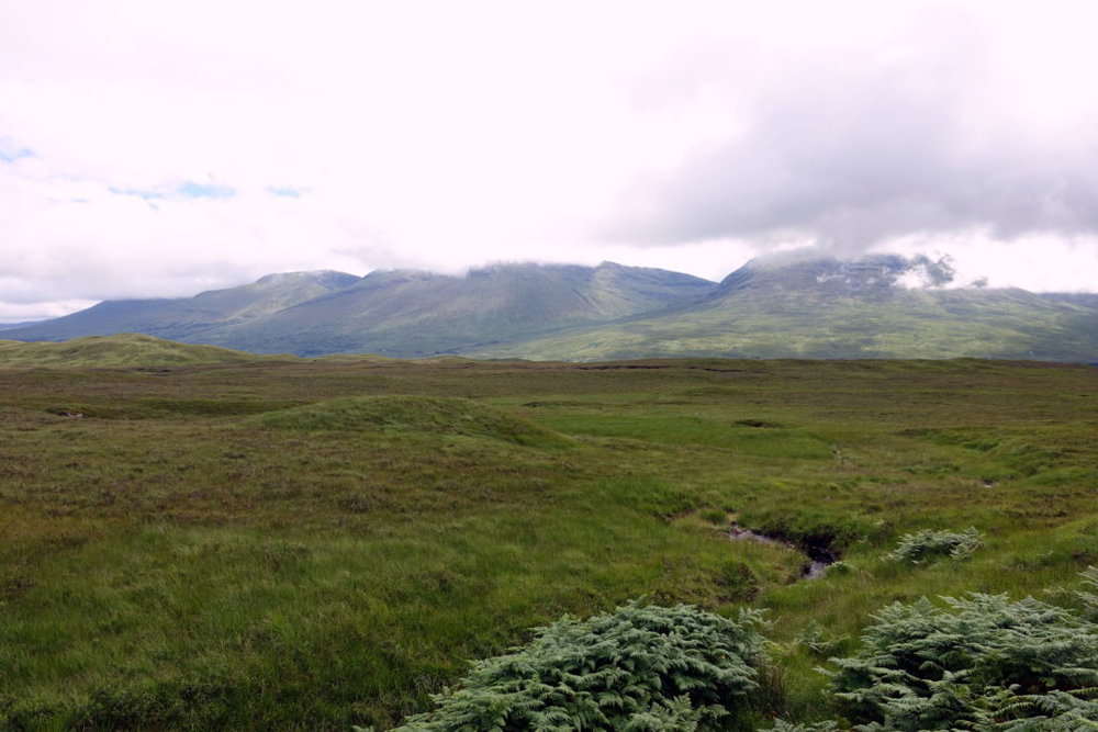 Solo hiking the Rannoch Moor along the West Highland Way in Scotland. awomanafoot.com