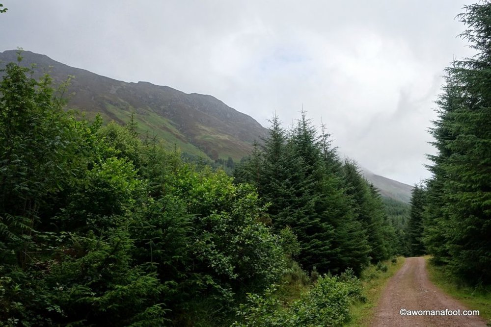 Hiking solo along the Great Glen Way in Scotland. Description, tips and photos. Awomanafoot.com