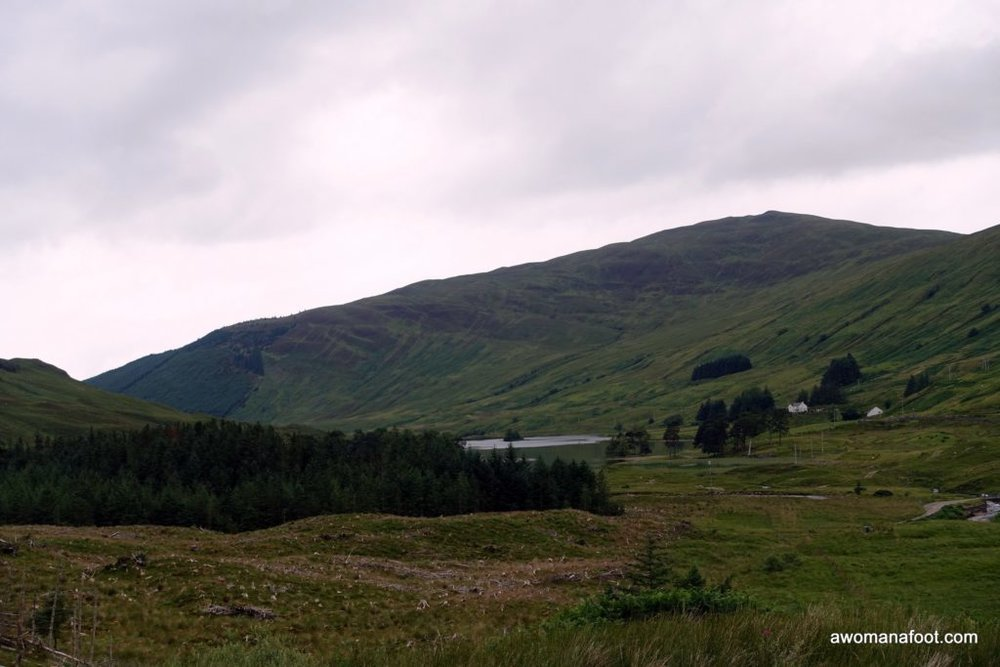 Solo hiking from Kinlochleven to Fort William along the West Highland Way. awomanafoot.com
