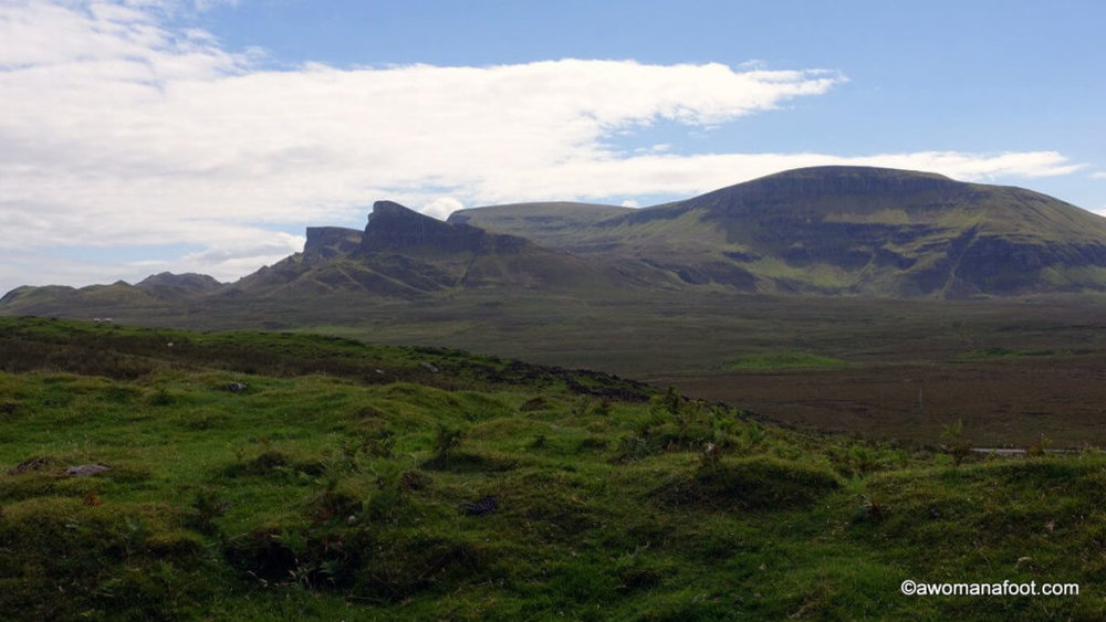 Rubha Hunish - the most northerly tip of the Isle of Skye. Stunning views and a challenging trail along cliffs. awomanafoot.com