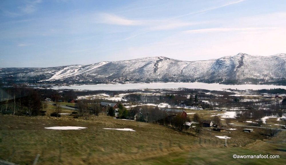 The most beautiful train ride in Europe: Oslo - Bergen in Norway. Click to see for yourself! awomanafoot.com