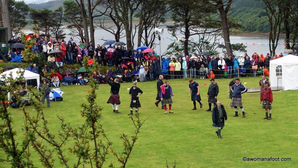 Seeing the Highland Games in Scotland is a real treat! Check it out - awomanafoot.com