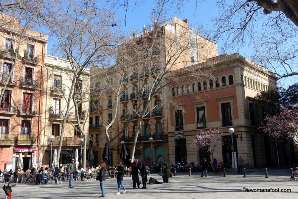 Wandering in Gràcia. Discovering Barcelona beyond the Gothic Quarter and Sagrada Familia. awomanafoot.com